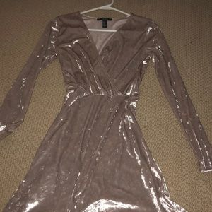 Long sleeve velvet dress (NEVER WORN)